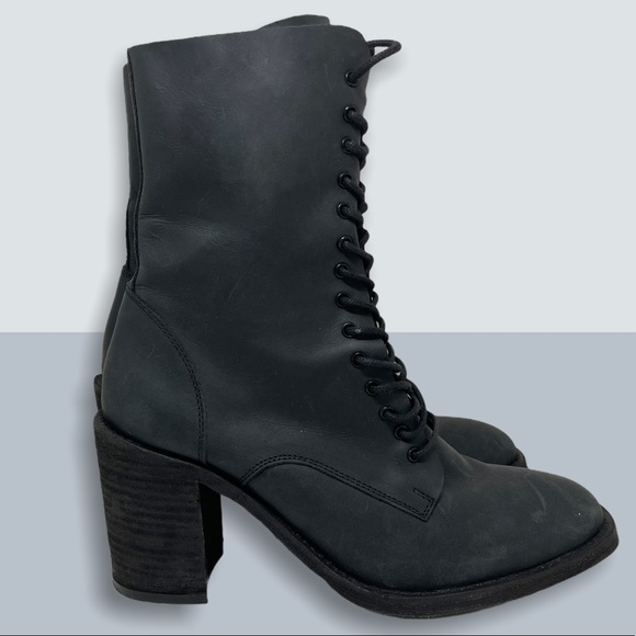 JEFFREY CAMPBELL Moto Lace Up Boots